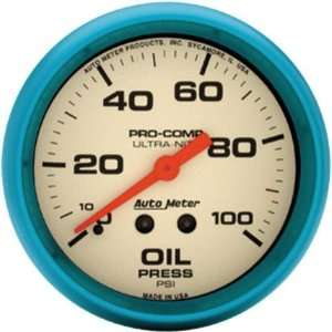 Auto Meter 4521 Ultra Nite 2 5/8 0 100 PSI Mechanical Oil