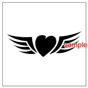 HEART WITH WINGS WHITE VINYL DECAL STICKER Everything