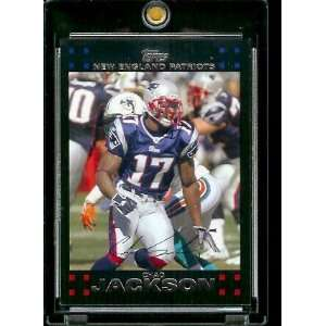 2007 Topps Football # 161 Chad Jackson   New England Patriots   NFL