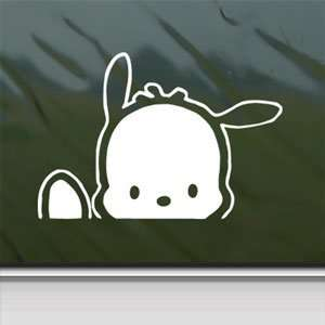 POCHACCO DOG White Sticker Car Laptop Vinyl Window White