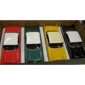 Motormax 1/24 Scale Diecast 1957 Chevy Bel Air Box of 4 Cars 4 Colors