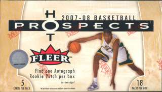 2007/08 FLEER HOT PROSPECTS BASKETBALL HOBBY BOX BLOWOUT CARDS