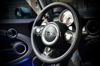 3pcs Mini cooper S JCW countryman steering wheel cover R55 R56 R58 R58