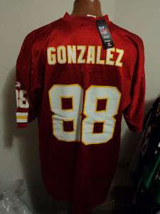 Reebok NFL Kansas City Chiefs Tony Gonzalez Mens Football Jersey NWT