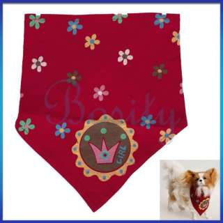 Pet Dog Puppy Cat Slide on Cotton Bandana Scarf Neckerchief Collar
