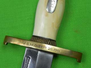 US RARE 1961 RANDALL MADE Huge Bowie Marine Corps Fighting Knife
