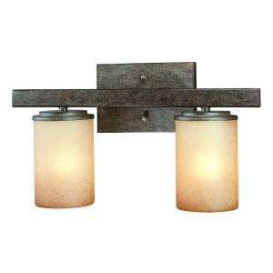 Hampton Bay Alta Loma 2 Light Dark Ridge Bronze Bath Light 25055 at