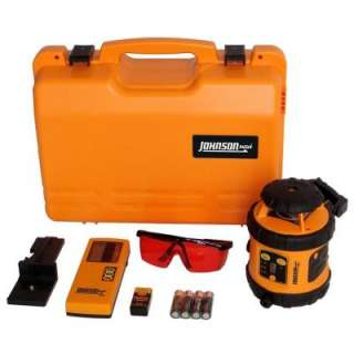 Johnson Self Leveling Rotary Laser Level with Detector 40 6516 at The