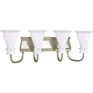 Progress Lighting Lockwood Collection Brushed Nickel 4 light Vanity