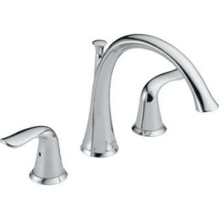 Delta Lahara 2 Handle Roman Tub Trim Kit Only in Chrome T2738 at The