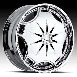 24 DUB GANJA SPINNER CHROME WHEEL SET