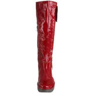 Fly London Womens Yule Red Patent Cheap New Leather Long Boots