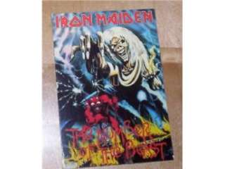 IRON MAIDEN The Number of the Beast (vykort/postcard) ROCK på Tradera