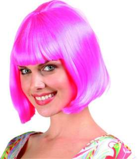 This Barbara Ann Bob Wig   Pink is a classic bob haircut with bangs.