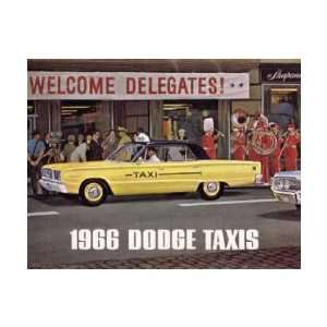 1966 DODGE TAXIS Sales Brochure Literature Book Piece