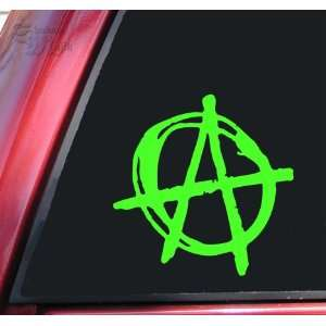 Anarchy Symbol Vinyl Decal Sticker   Lime Green
