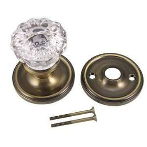 Single Dummy Glass Door Knob (Antique Brass Finish)