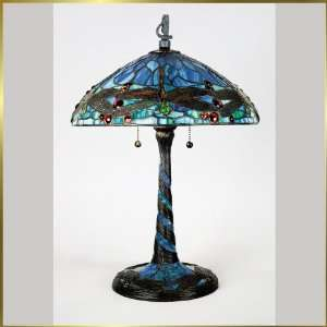 Tiffany Table Lamp, QZTF6787VB, 2 lights, Antique Bronze, 14 wide X