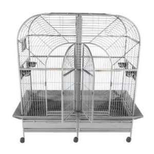 A and E Double Macaw Bird Cage White