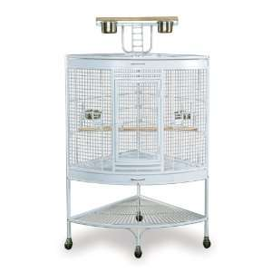 Prevue Pet Products Large Corner Bird Cage 3156W White, 37 Inch by 27