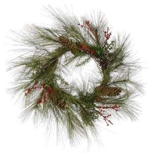 Pine & Berries Artificial Christmas Wreath   Unlit