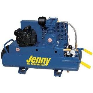 Jenny K1A 8P 1 hp 8 Gallon Single Phase 115v or 230 Volt Electric Air