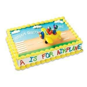 Street Elmo and Grover Airplane Party Cake Topper Set Toys & Games