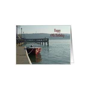 Fishing Boat 69th Birthday Card Card Toys & Games
