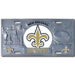 New Orleans Saints NFL 3D License Plate