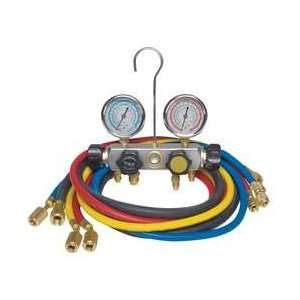 Dayton 4PDG2 Manifold Gauge Set, 4 Valve, 3 Hoses Appliances