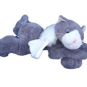 Ultra Soft Cuddly Plush Big Foot Lazy Angel Cat 16 Stuffed Animal Toy