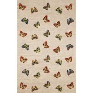 Indoor/Outdoor Hand Tufted Area Rug Scattered Butterfly 2