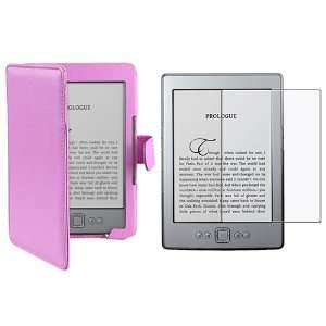 Leather Cover Case with Anti Glare Screen Protector for  Kindle