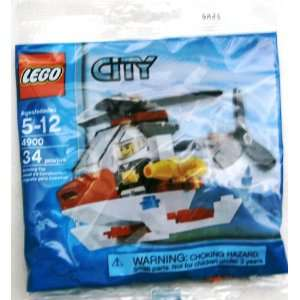 LEGO City Mini Figure Set #4900 Fire Helicopter Bagged Toys & Games