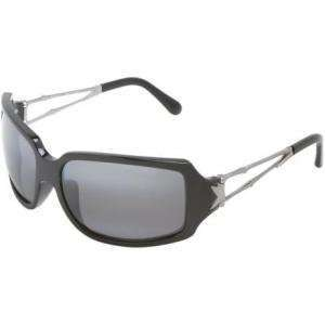 Maui Jim Bamboo Sunglasses Gloss Black W/Silver/Gray, One