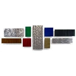 Multi Panel Metal Wall Art Modern Abstract décor by Ash