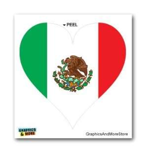 Mexico Mexican Flag Heart   Window Bumper Laptop Sticker