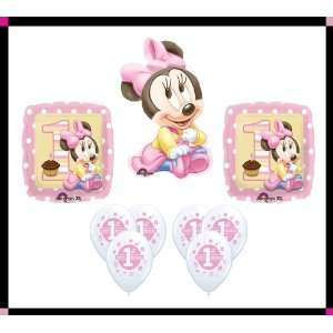 Disney Baby Minnie Mouse 1st Birthday Balloon Set Party
