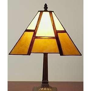 Tiffany style Amber Mission style Table Lamp Electronics