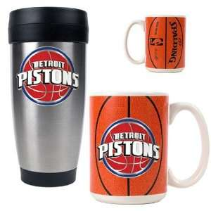 Detroit Pistons NBA Stainless Steel Travel Tumbler & Game ball