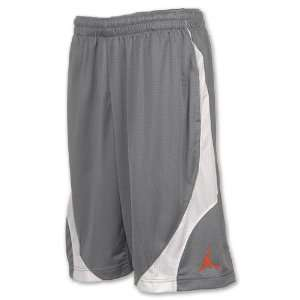 NIKE Jordan Rise Mens Basketball Shorts, Cool Grey / White / Team