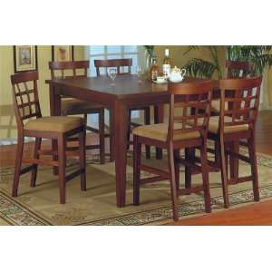 Height 7 Pc Pub Bar Dining Table Set