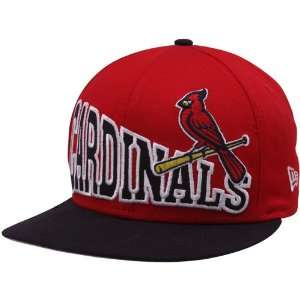 St. Louis Cardinals Red Black Stoked Snapback Hat