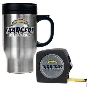 San Diego Chargers NFL Travel Mug & Tape Measure Gift Set