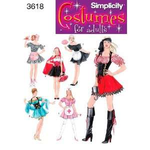 Simplicity Sewing Pattern 3618 Misses Costumes, HH (6 8 10