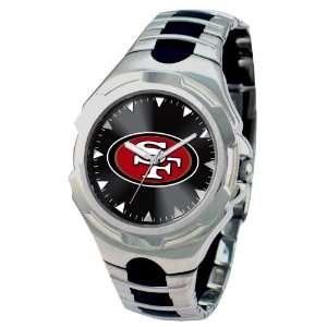 San Francisco 49Ers Mens Silver Victory Series Sports Watch