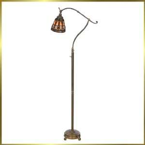Tiffany Floor Lamp, QZTFAV151F, 1 light, Antique Bronze, 34 wide X 66