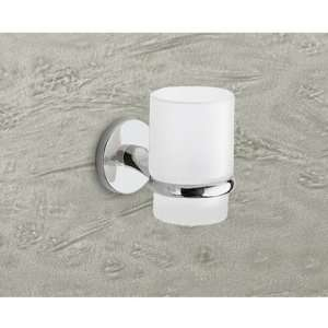 Gedy 4210 13 Wall Mounted Frosted Glass Toothbrush Holder