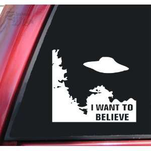 Files I Want To Believe White Vinyl Decal Sticker