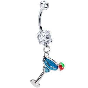 Blue Cocktail Margarita Belly Ring Jewelry